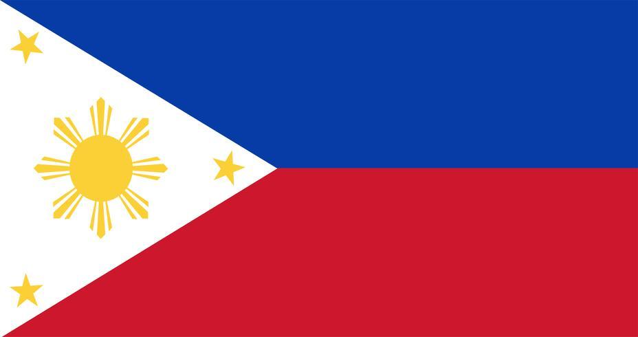Illustration av philippinesflaggen