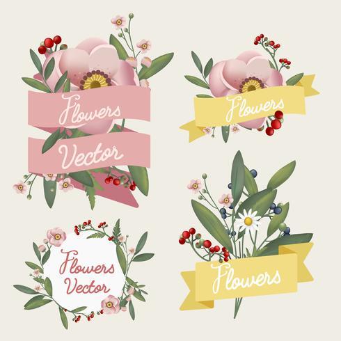 Vecteur de fleurs magnifiquement conçu