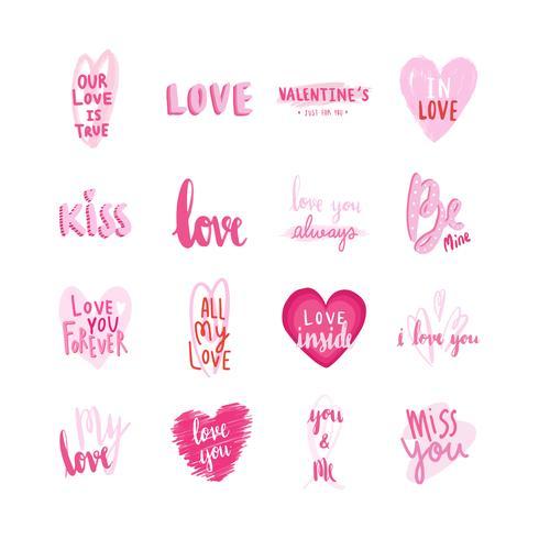 Collection de typographies de la Saint-Valentin