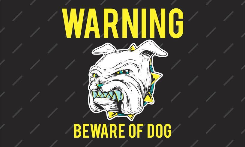 Hüten Sie sich vor einer Bulldogge, die ihre Zähne reibt