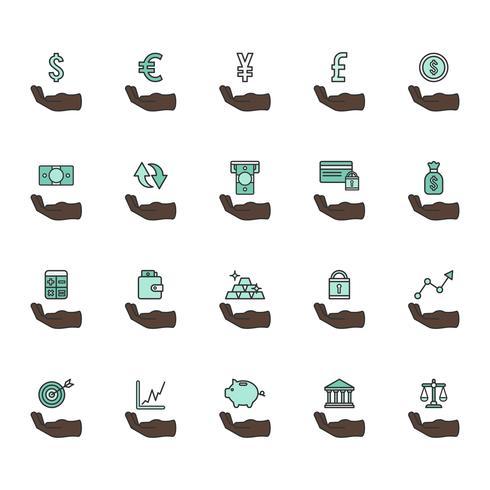Set von finanziellen Icons