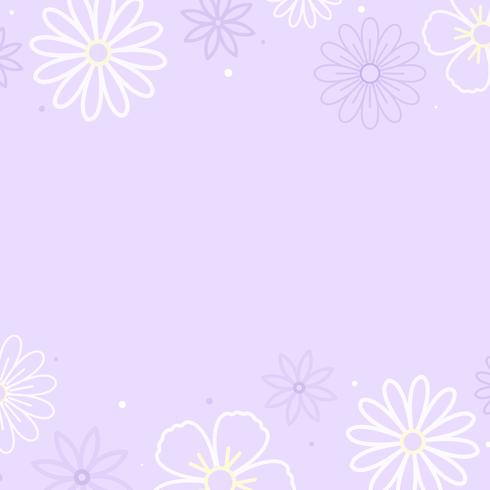 Paarse bloemmotief