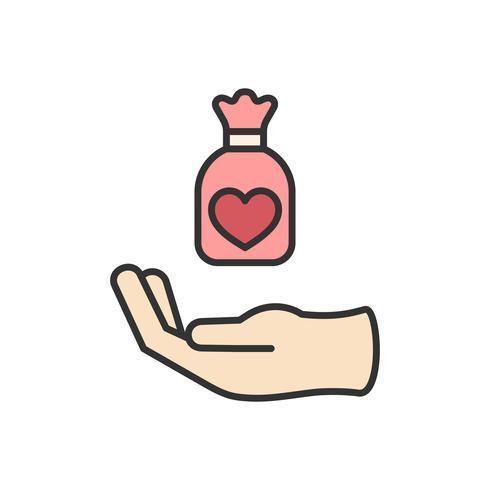 Illustration von Spendenunterstützungsikonen
