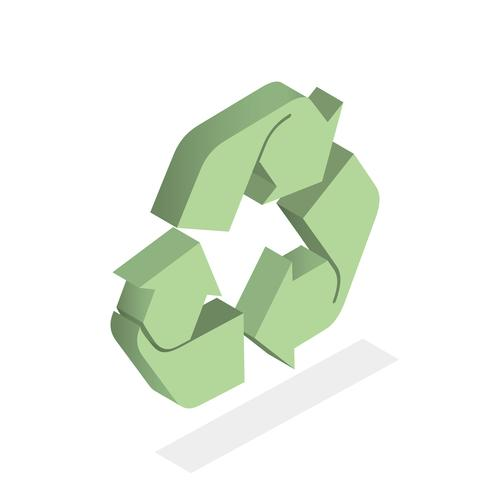 Vettore dell'icona di riciclare
