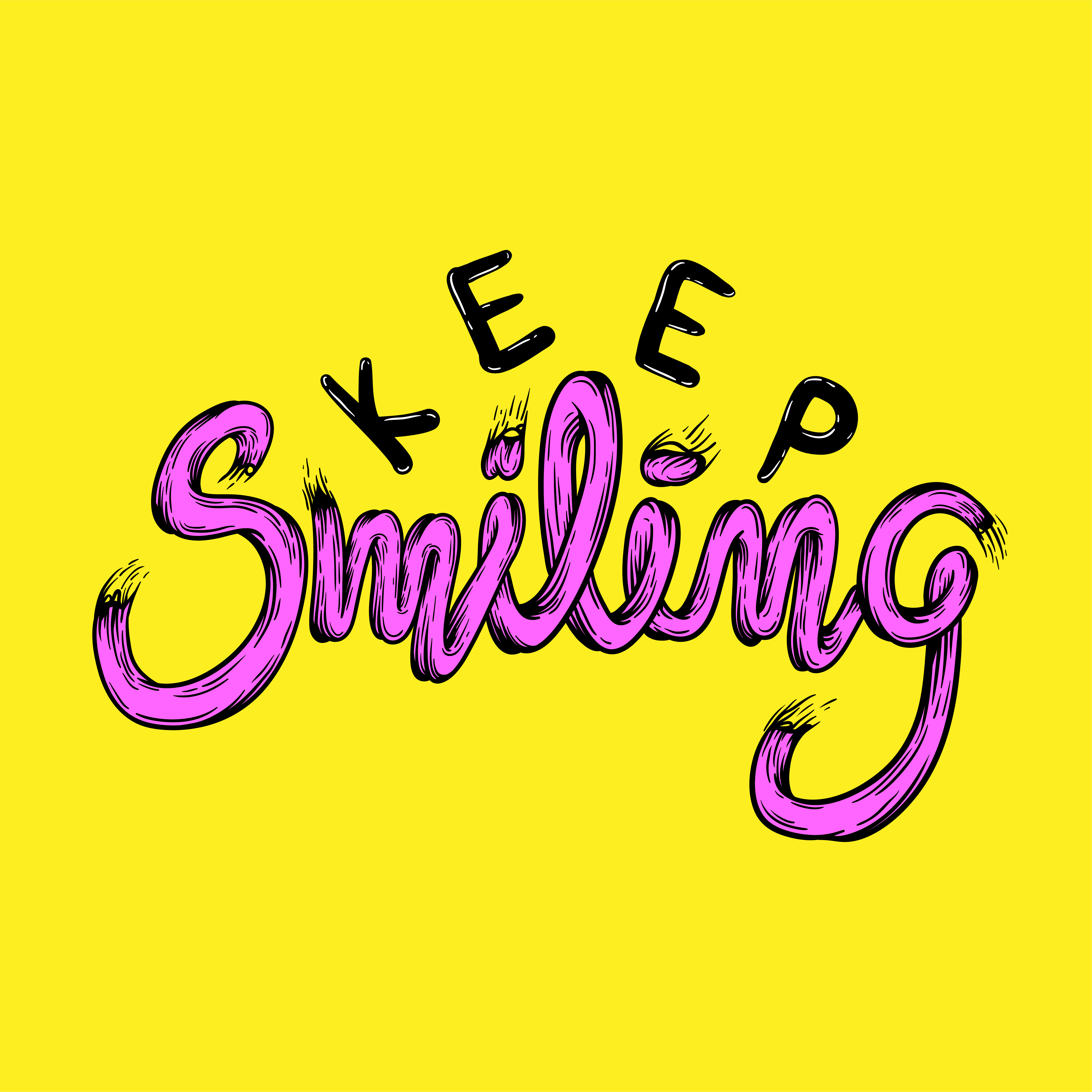 Illustration of keep smiling phrase vector - Download Free