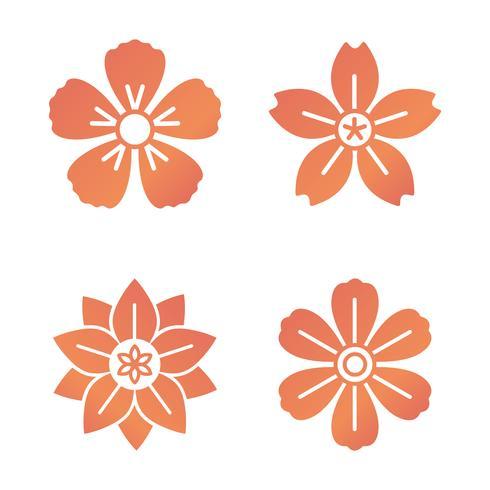 Patrón floral y los iconos florales