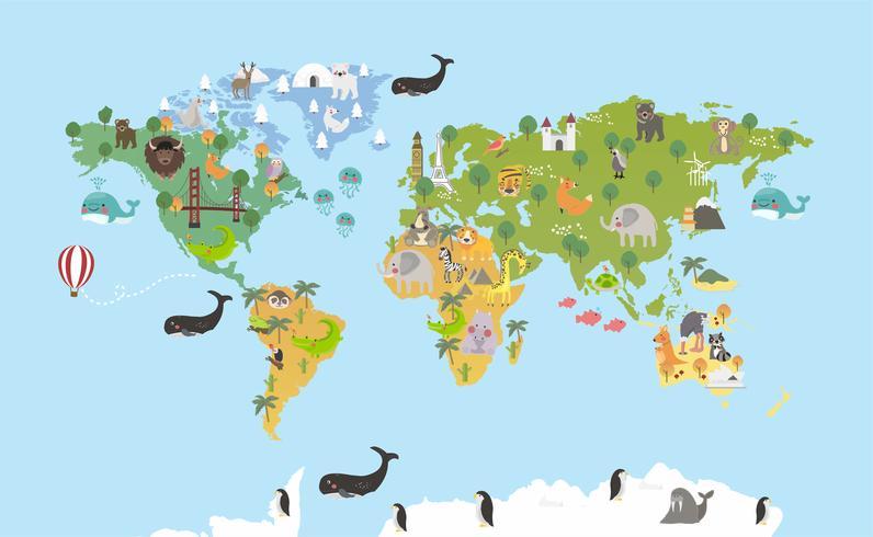 Illustrationszeichnungsartsatz von Lebensraumlebensräumen der wild lebenden Tiere