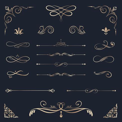Vintage dekorative Gestaltungselemente