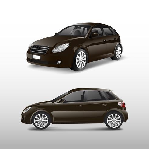 Automobile della berlina nel vettore marrone
