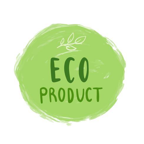 Vettore di tipografia del prodotto di Eco nel verde