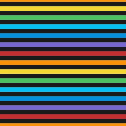Seamless colorful horizontal lines pattern vector
