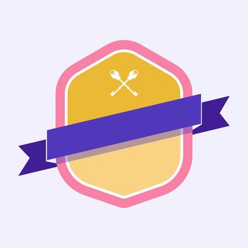 Distintivo colorato impreziosito da un banner