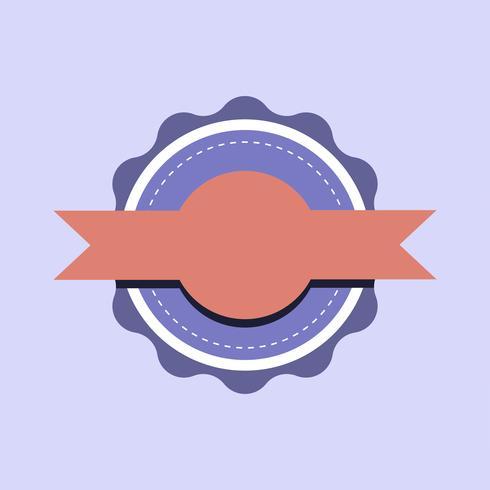 Pastellemblemausweis-Designvektor