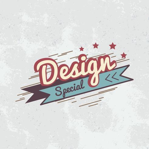 Vettore di logo distintivo design speciale