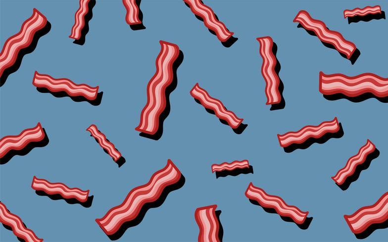 Ilustracao De Papel De Parede Comida Bacon Padrao Download