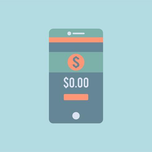 Grafica di app bancaria sul telefono cellulare