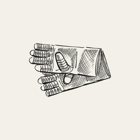 Illustration vintage de gants de jardinage