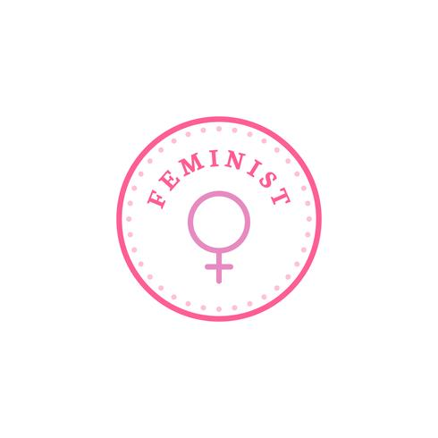 Feministische cirkel embleem badge illustratie
