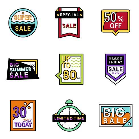 Sats på försäljning emblemdesign