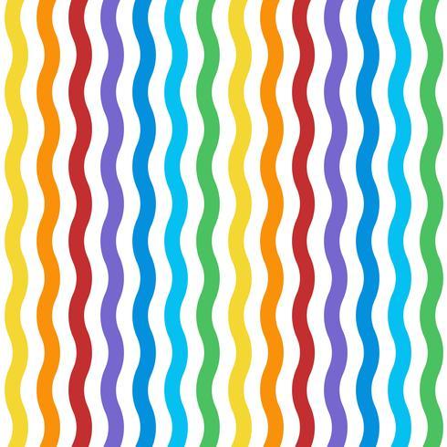 sömlöst färgstarkt vågigt mönster vektor