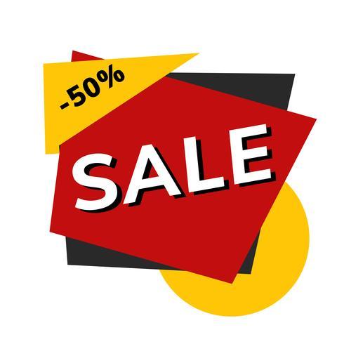 Verkoop 50% korting winkel reclame vector