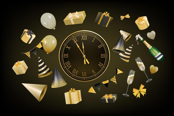 Illustration of new year decoration