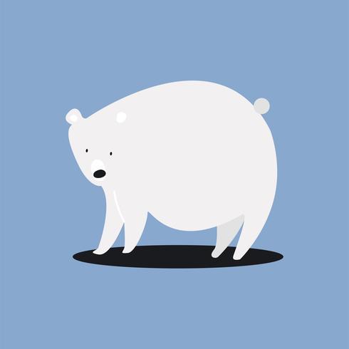 Gullig vit isbjörn illustration