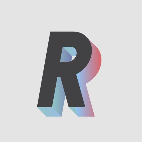 Vettore di disegno di tipografia divertente e colorato