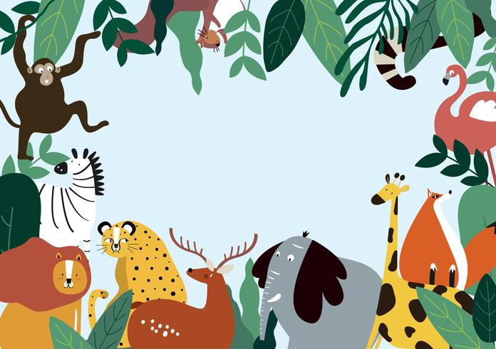 Animals theme template vector illustration