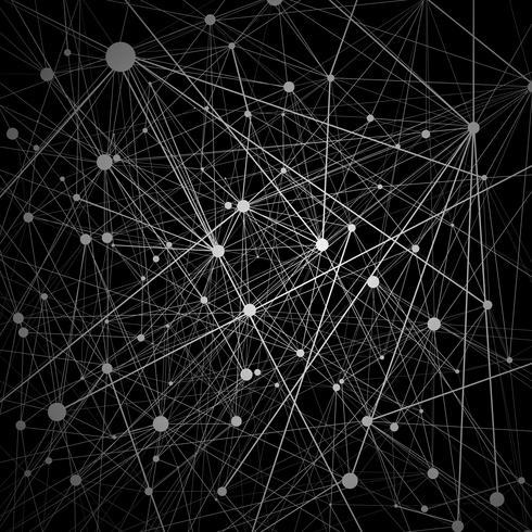 Illustrazione di rete neurale nera