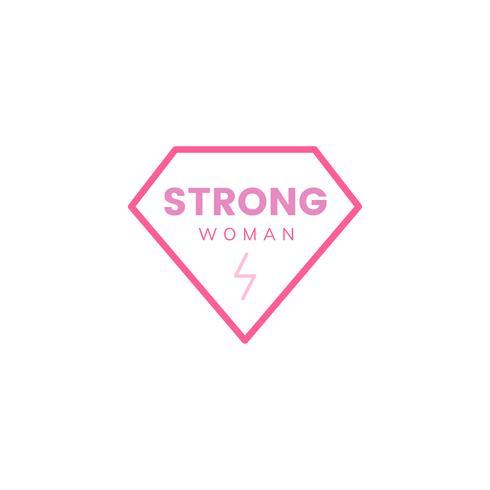 Illustrazione del distintivo dell'emblema della donna forte