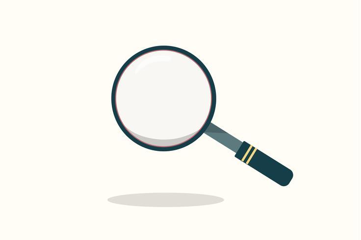 Illustration d'une icône en forme de loupe