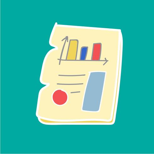 Doodle de gráfico de relatório de negócios