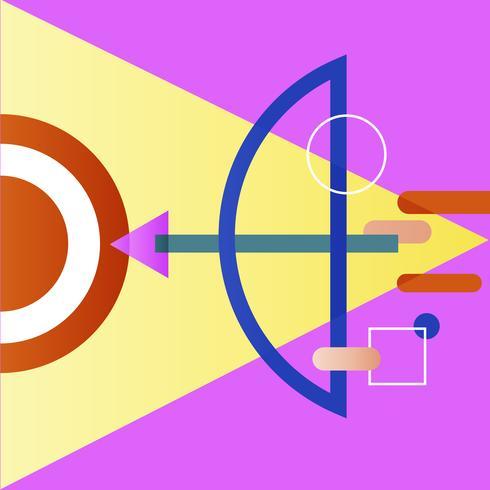 Illustrazione di mirare la freccia