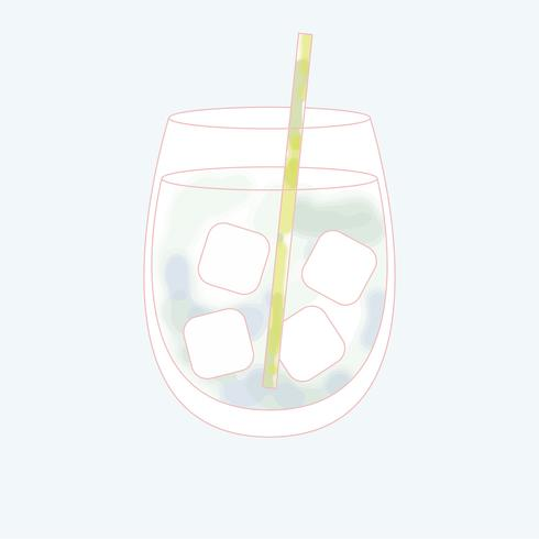 Vektor av en dryck