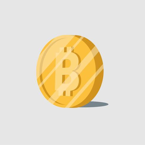 Bitcoin cryptocurrency elektronische contant geld symbool vector