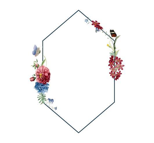 Illustration de conception de carte cadre floral