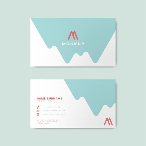 Minimal modernt visitkortdesign med geometriska element