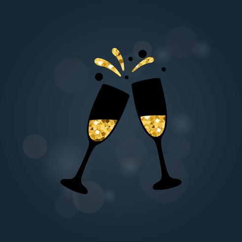 Ilustración de una tostada de champán