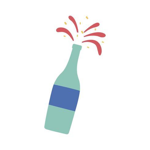 Illustration der Champagnerflaschenikone