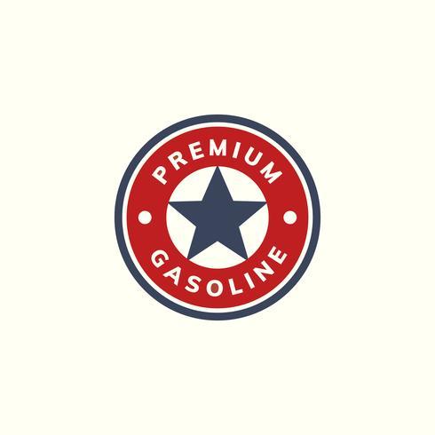 Erstklassige Benzinfahnen-Ikonenillustration
