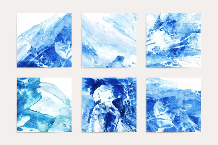 Pinturas índigo abstratas