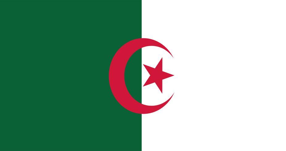 Illustrazione della bandiera Algeria