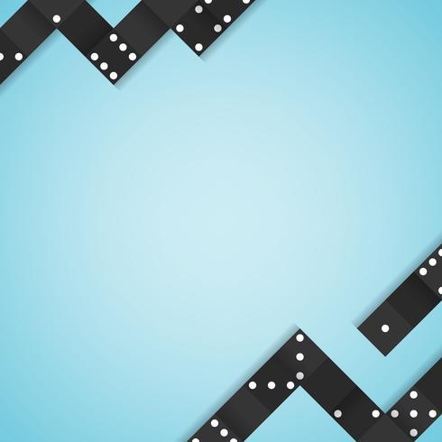 Schwarzes blockiert Rahmen auf leerem blauem Hintergrundvektor
