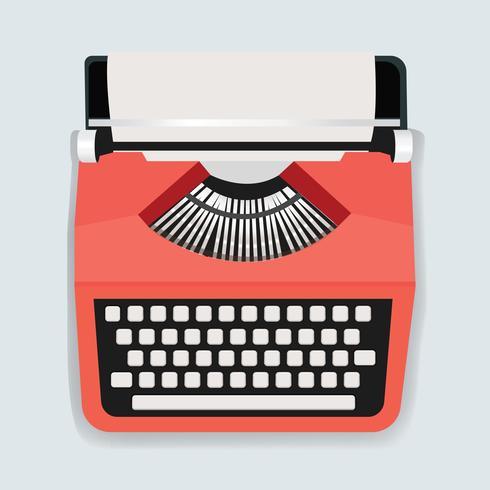 Vettore dell'illustrazione dell'icona della macchina della retro macchina da scrivere