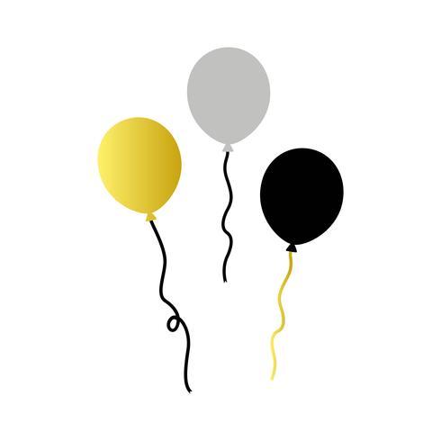 Ilustração, de, partido, balões