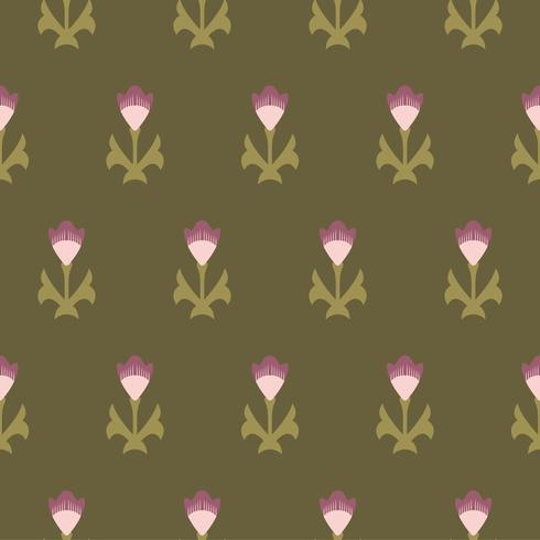 Vintage blommönster som inspireras av Grammatik av prydnad