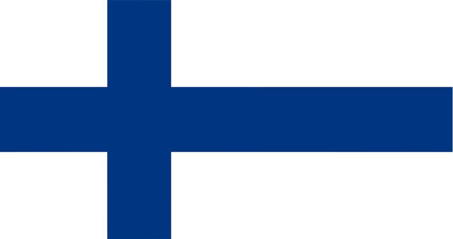 Illustrazione della bandiera della Finlandia