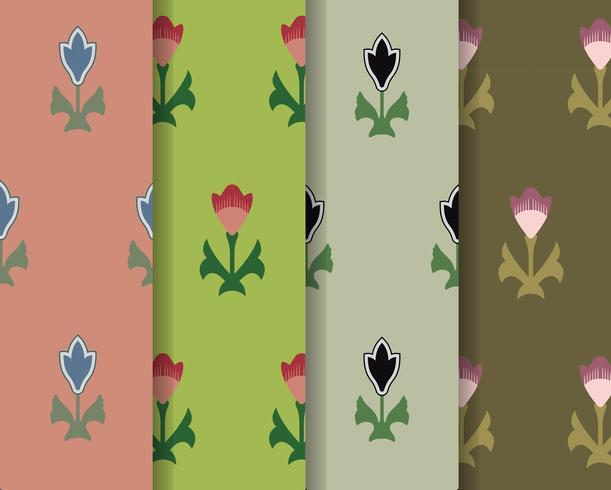 Set van 4 vintage patronen geïnspireerd op The Grammar of Ornament