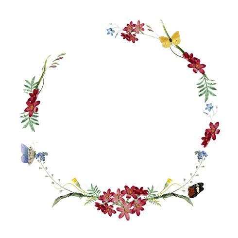 Blom- ram inbjudningskortdesign
